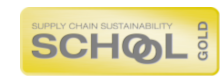 Supply Chain Sustainability School Gold Logo